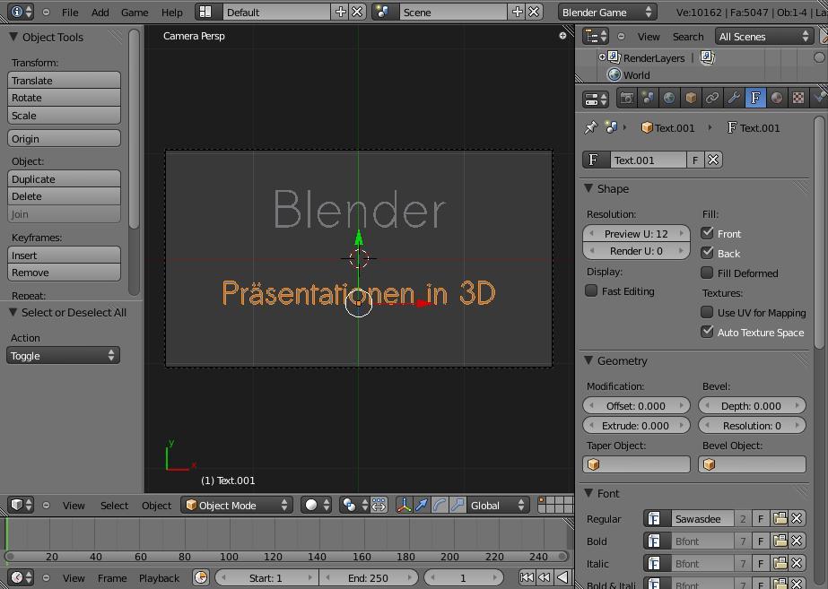 Seal - blender - Präsentationen in Blender - Teil 3: Folien