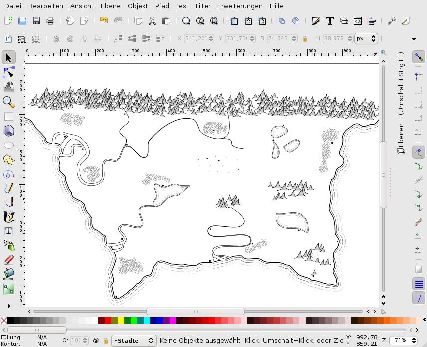 Fantasy Karte.Seal Inkscape Erstellen Einer Fantasy Karte Teil 6 Städte Und